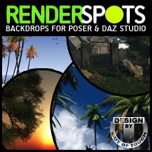 RenderSpots Base for Poser and DAZ Studio 2D Lights and Cameras 3D Models outoftouch