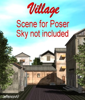 Village for Poser 3D Models JeffersonAF