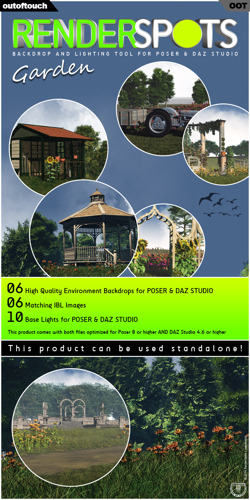 RenderSpots Garden for Poser and DAZ Studio