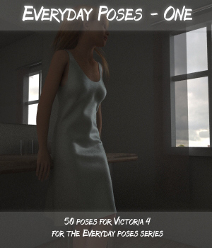 Victoria 4.2 poses - Everyday poses 3D Figure Essentials 3D-Mobster