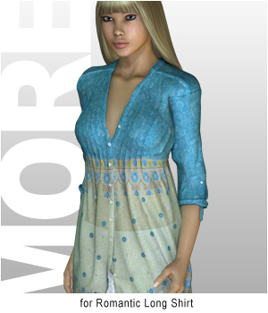 MORE Textures & Styles for Romantic Long Shirt 3D Figure Assets motif