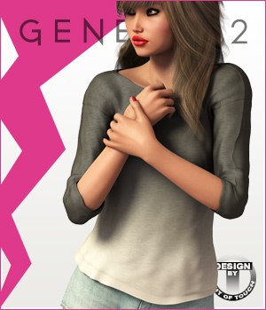 Fashion Blizz - Oversized Shirt for Genesis 2 Female(s) 3D Figure Assets outoftouch