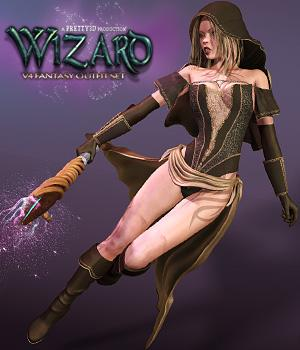 Wizard 3D Figure Assets Pretty3D