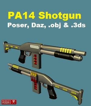 PA14 Shotgun 3D Models darkness_02