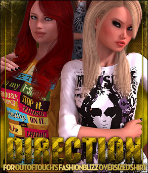 Direction for Fashion Blizz Oversized Shirt 3D Figure Essentials ShanasSoulmate