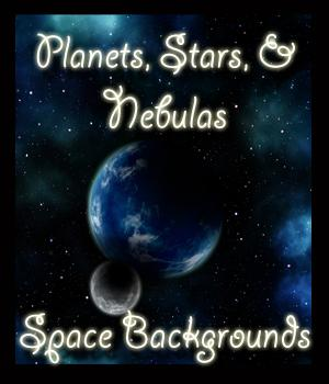Planets, Stars and Nebulas - Space Backgrounds 2D Graphics ellearden