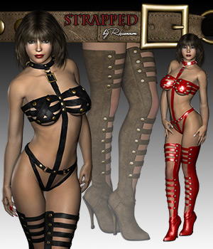 Strapped Outfit for V4 3D Figure Assets RPublishing