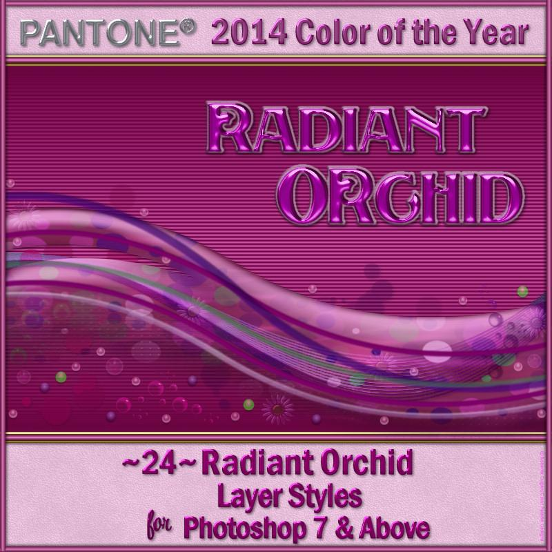 2014 Color of the Year-Radiant Orchid Layer Styles