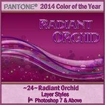 2014 Color of the Year-Radiant Orchid Layer Styles image 1