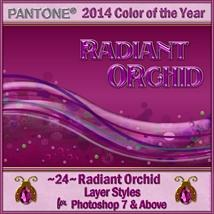 2014 Color of the Year-Radiant Orchid Layer Styles image 2