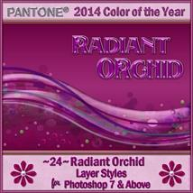 2014 Color of the Year-Radiant Orchid Layer Styles image 3
