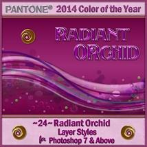 2014 Color of the Year-Radiant Orchid Layer Styles image 4