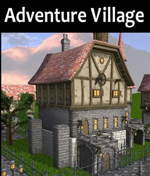 Adventure Village 3D Models dexsoft-games