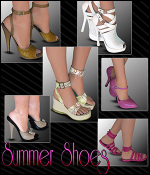 Summer Shoes Pack 3D Figure Assets RPublishing