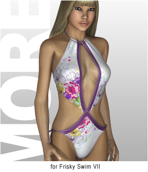 MORE Textures & Styles for Frisky Swim VII 3D Figure Assets motif