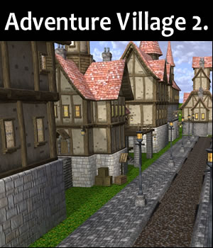 Adventure Village 2. 3D Models dexsoft-games