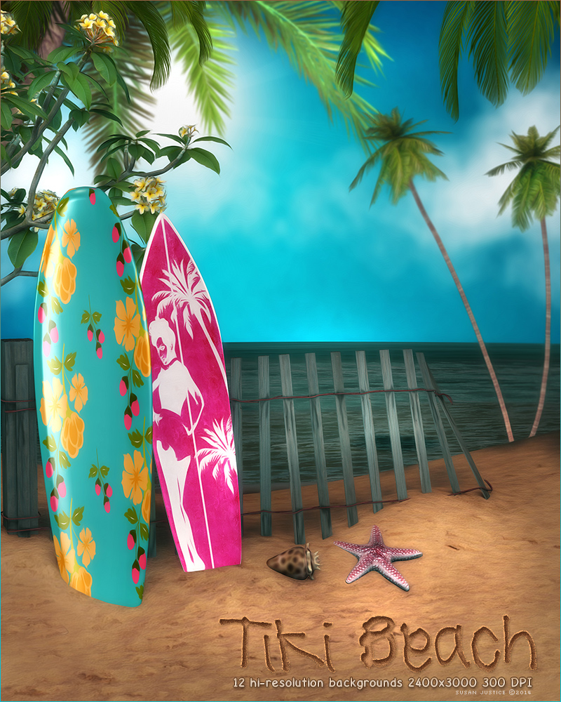 tiki beach backgrounds 2d graphics sveva