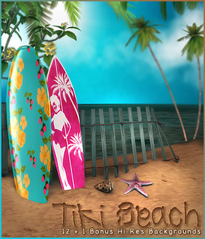 Tiki Beach Backgrounds 2D Sveva