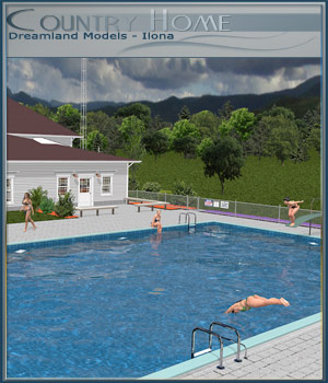 Movie Sets, Country Home 3D Figure Essentials 3D Models DreamlandModels