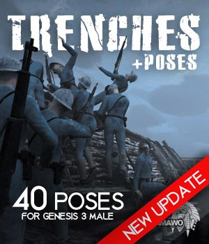 Trenches 3D Models pamawo