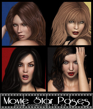 Movie Star Poses for V4 3D Figure Essentials modelPRO