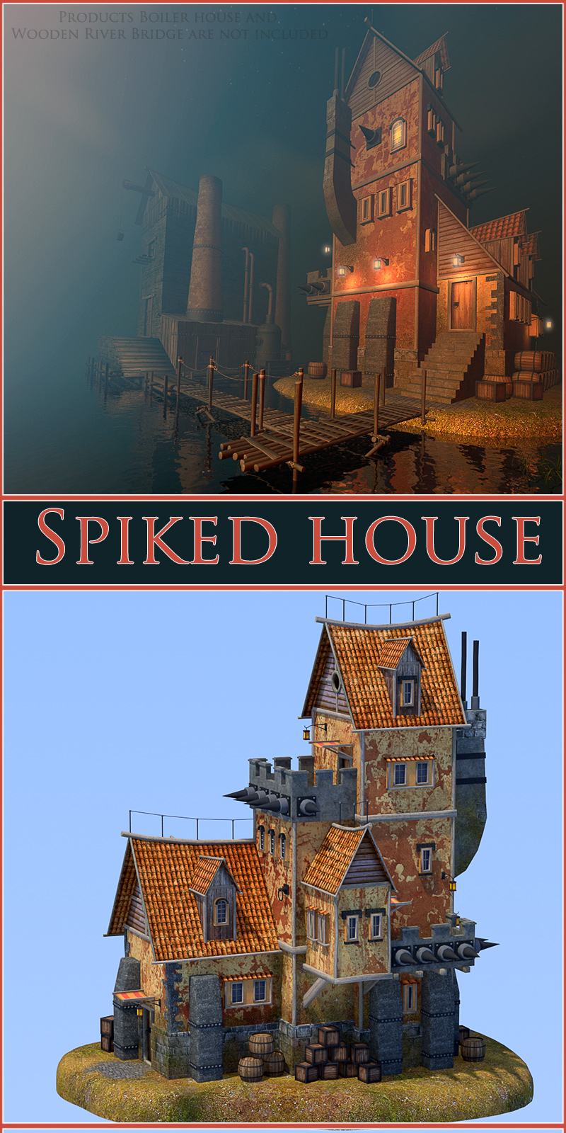 Spiked house
