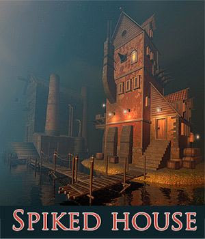 Spiked house 3D Models 1971s