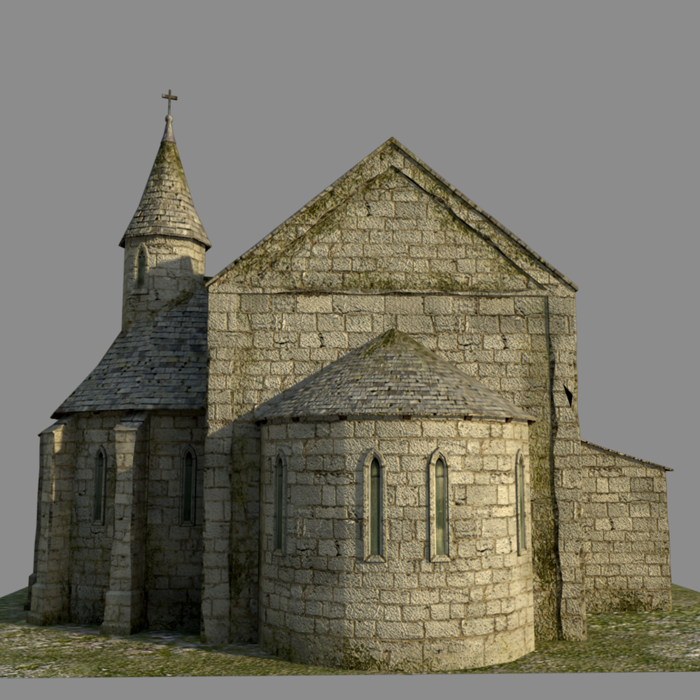 Medieval Church Extended License 3d Models Extended