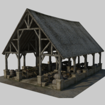 Medieval Market - Extended License 3D Models 3D Figure Essentials Gaming Dante78