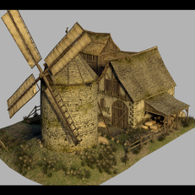 Medieval Windmill - Extended License 3D Models Gaming Dante78