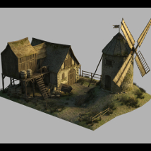 Medieval Windmill - Extended License image 1