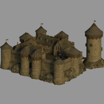 Medieval Castel V1 - Extended License 3D Models Gaming Dante78