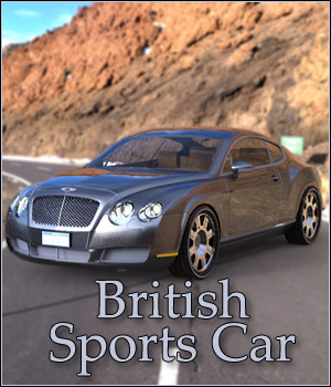 British Sports Car - Extended License Gaming 3D Models RPublishing