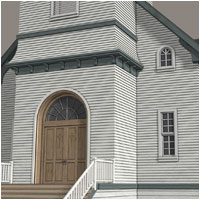 Country Church - Extended License 3D Models Gaming RPublishing