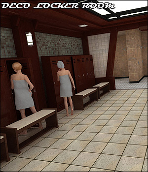 Deco Locker Room - Extended License 3D Models Gaming RPublishing