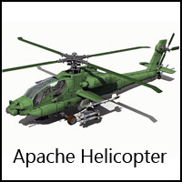 Apache Helicopter - Extended License Gaming 3D Models RPublishing