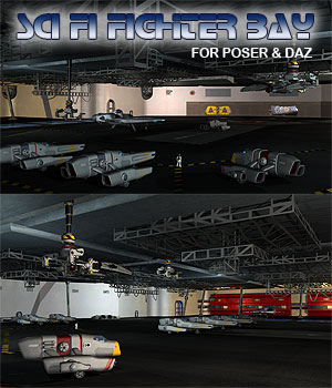 Sci Fi Fighter Bay 3D Models Simon-3D