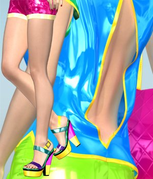 Neon Summer for V4A4G4S4Elite 3D Figure Essentials RainbowLight
