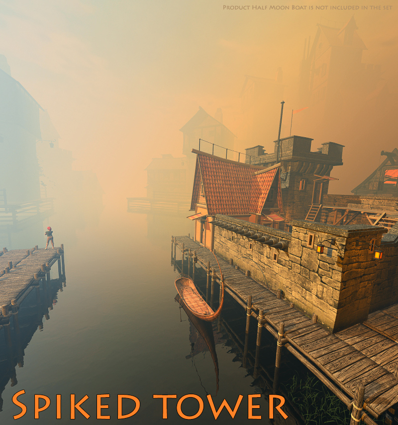 Spiked tower