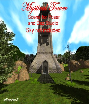 Mystical Tower 3D Models JeffersonAF