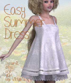 Easy Summer Dress 3D Figure Assets Tipol