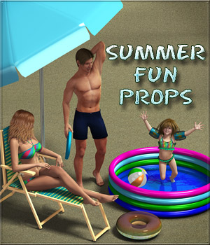 Summer fun props 3D Models DigitalDreamsDS