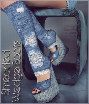 Shredded Wedge Boots V4/A4/G4 3D Figure Essentials lilflame