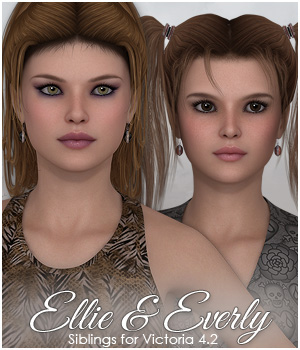 SASE Siblings: Ellie & Everly 3D Figure Essentials Sabby