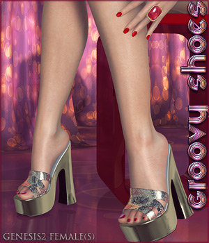Groovy Shoes G2F 3D Figure Assets lilflame