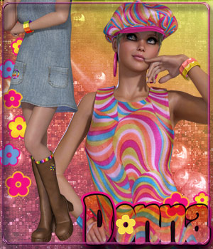 Donna for Back to the Seventies 3D Figure Essentials catatonia72