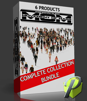 M.O.M Crowd Generator BUNDLE 3D Software : Poser : Daz Studio : iClone powerage
