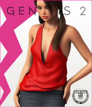 Fashion Blizz - Wide Halter Top for Genesis 2 Female(s) 3D Figure Essentials outoftouch