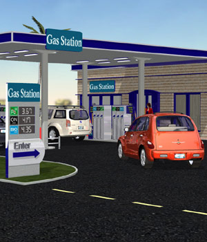 VP Gas Station (for Poser) 3D Models VanishingPoint