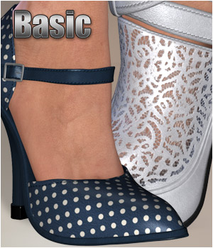 Basic - Summer Shoes 3D Figure Essentials P3D-Art